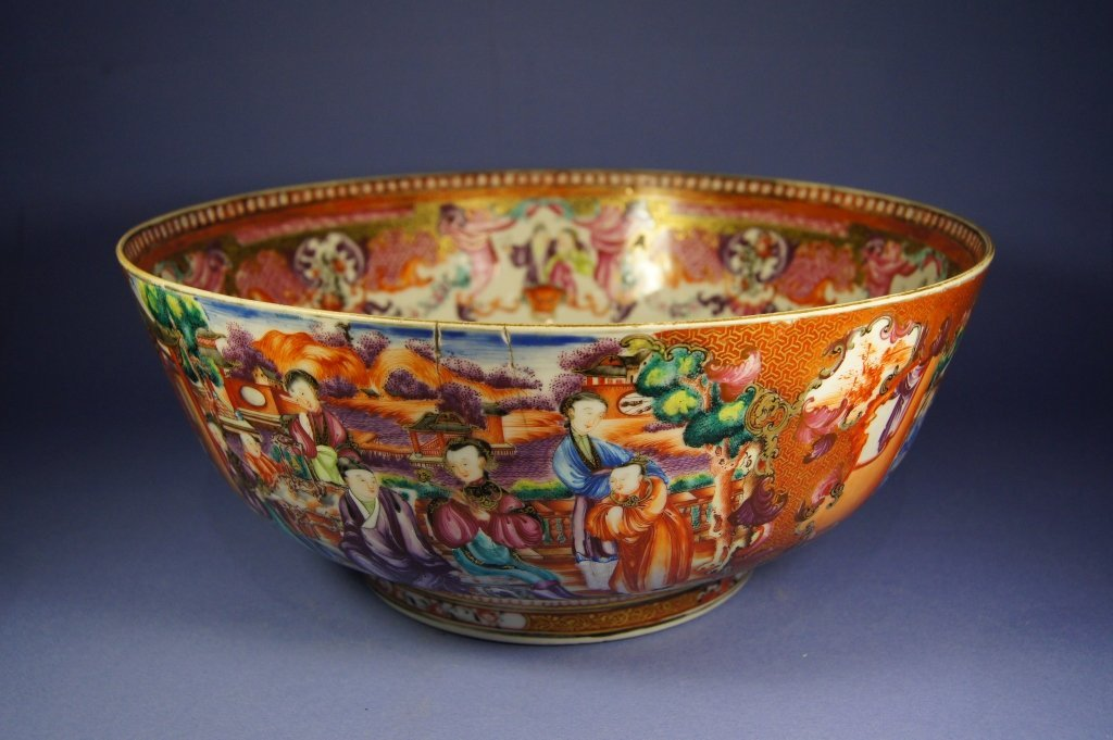 48: Chinese QianLong Export Famille Rose bowl