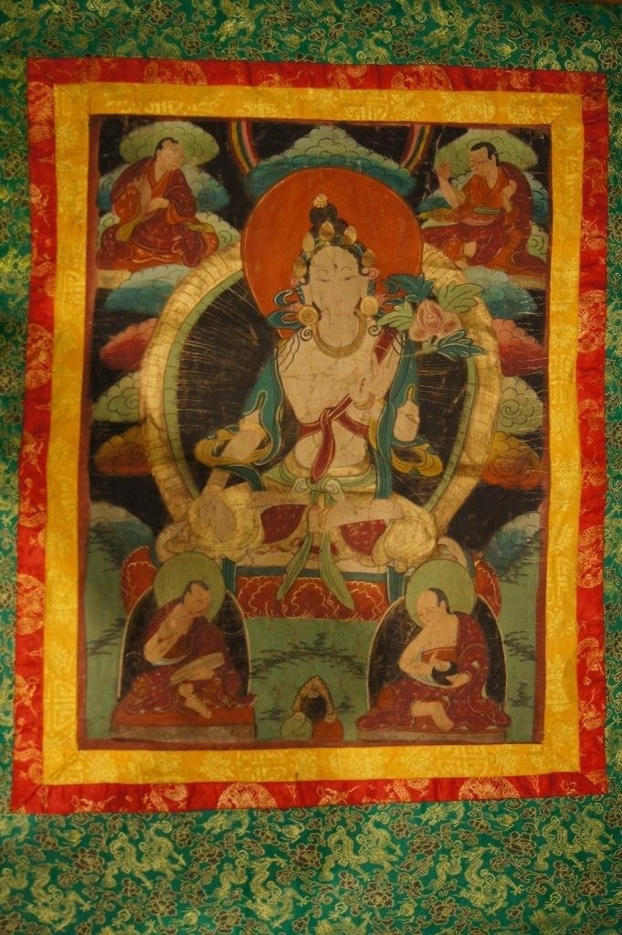 149: Chinese antique watercolor on silk