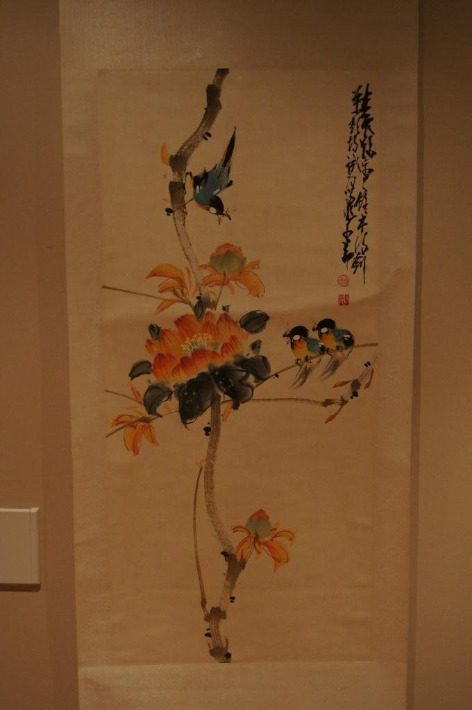 150: Chinese antique scroll water color on paper