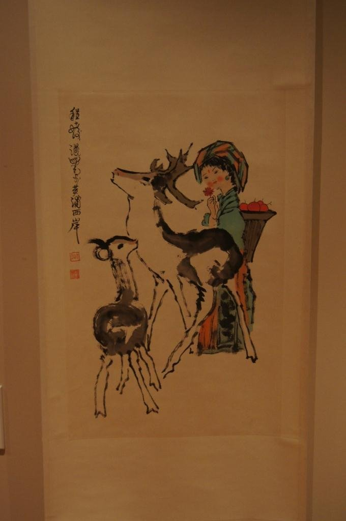 151: Chinese antique scroll water color on paper