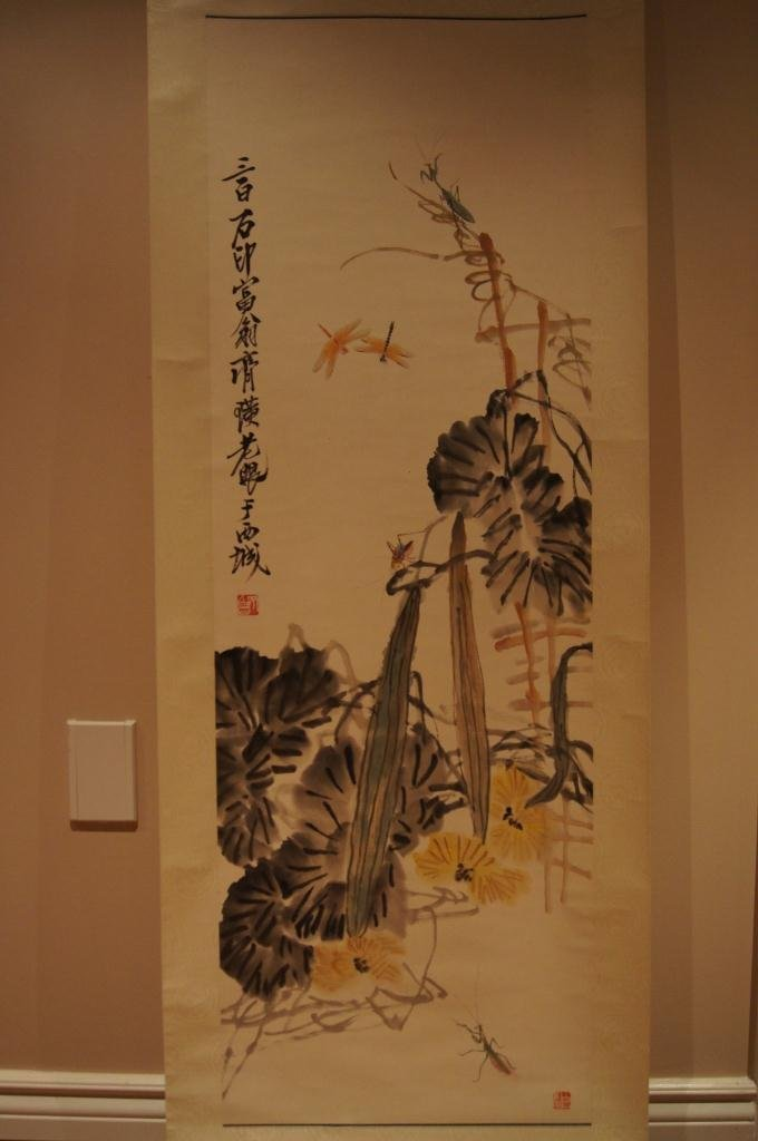153: Chinese antique scroll water color on paper