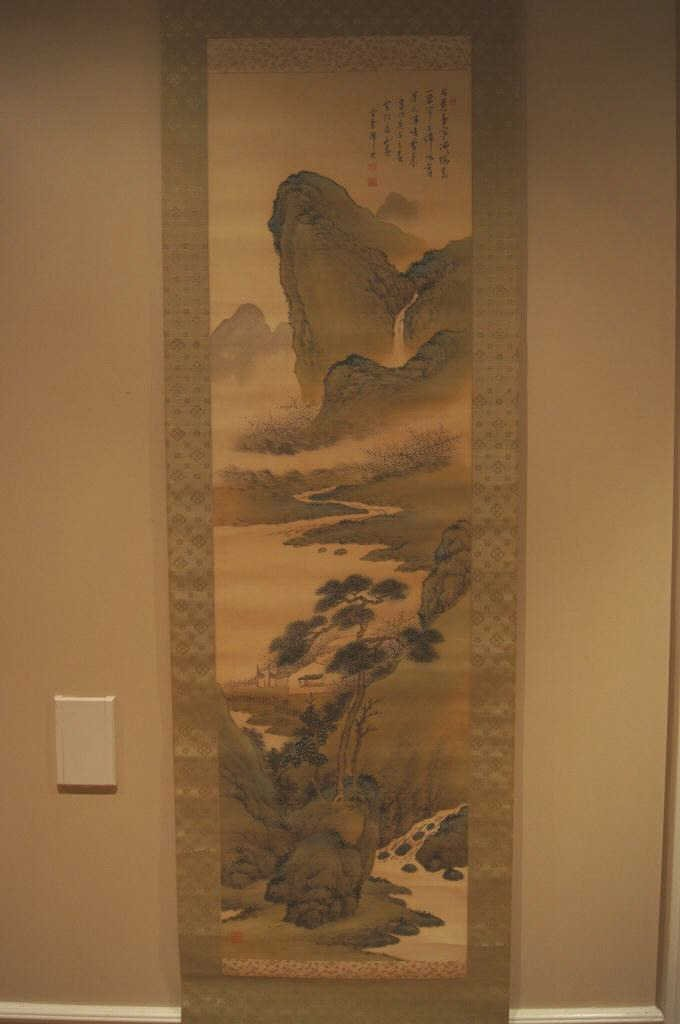 156: Chinese antique scroll water color on paper