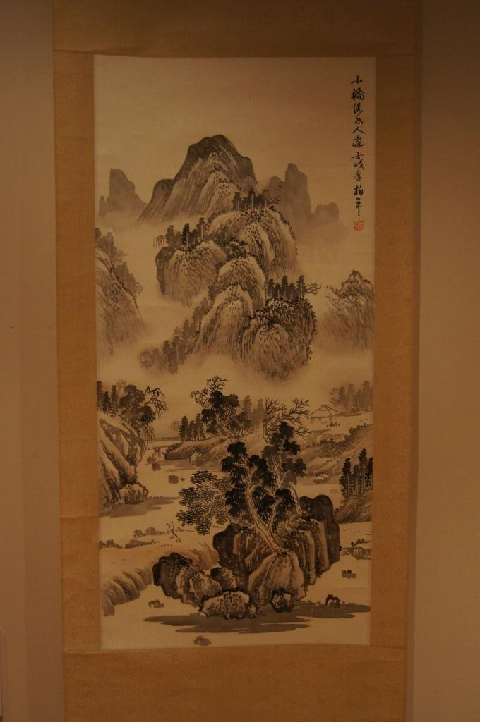 157: Chinese antique scroll water color on paper