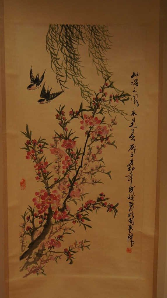 158: Chinese antique scroll water color on paper
