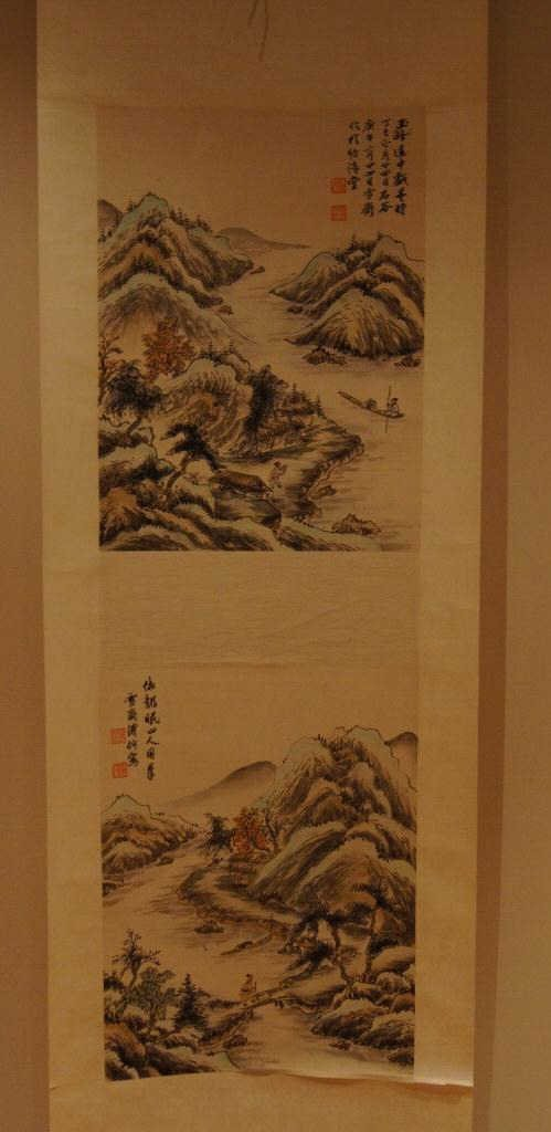 159: Chinese antique scroll water color on paper