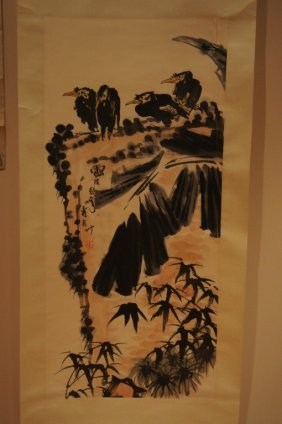 5: Chinese antique water color on paper