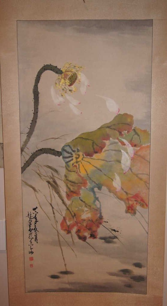 7: Chinese antique water color on paper;