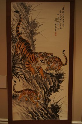 9: Chinese antique water color on paper