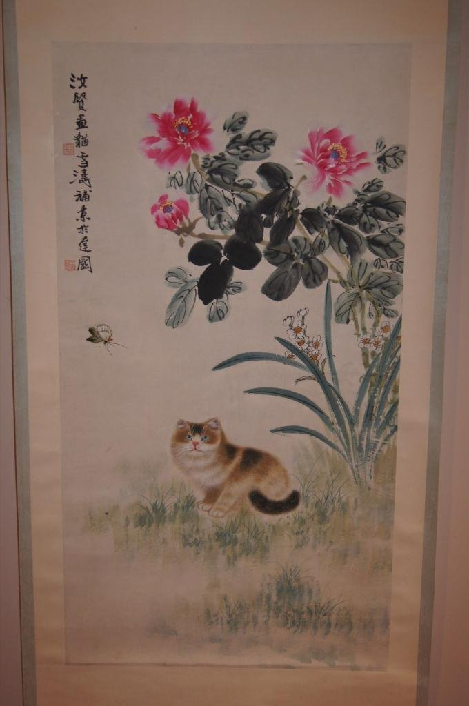 12: Chinese antique water color on paper;