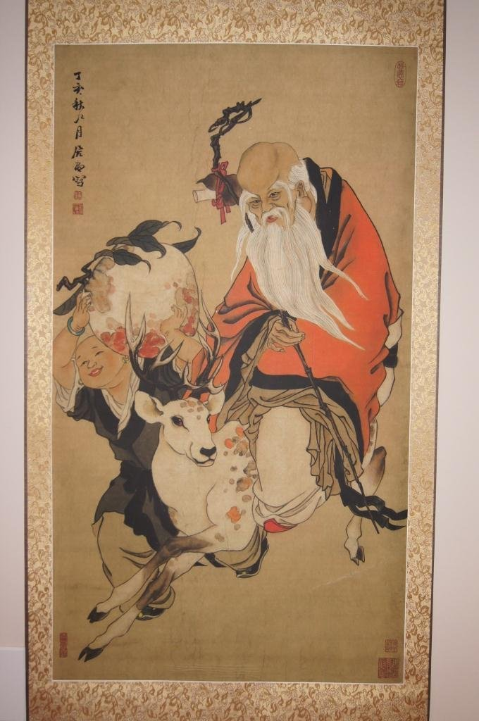 13: Chinese antique water color on paper;