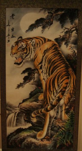 14: Chinese antique water color on paper;