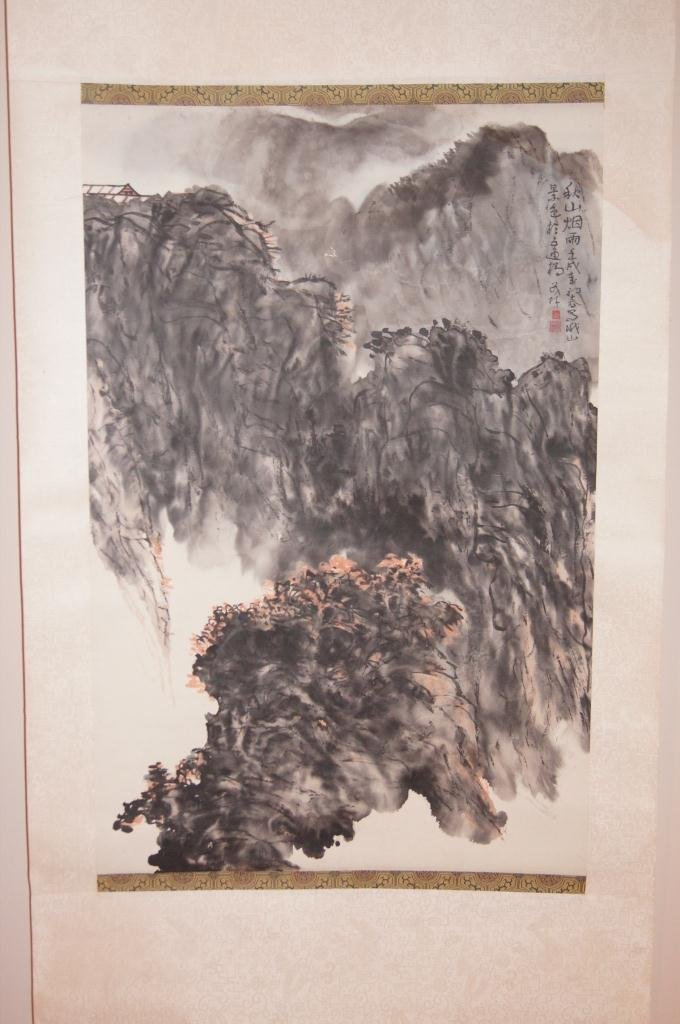 16: Chinese antique water color on paper;