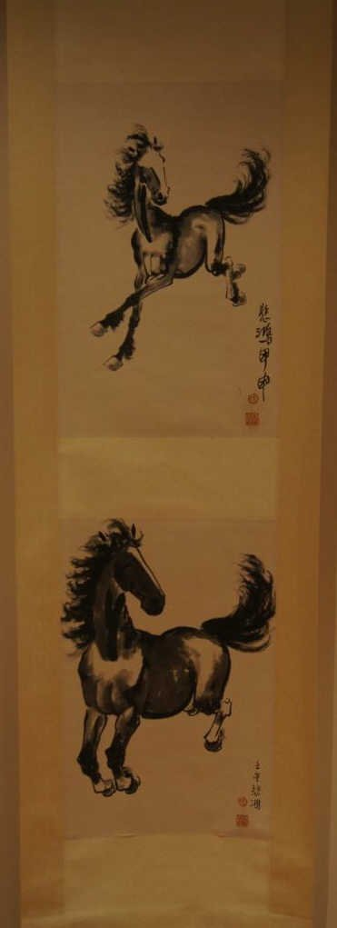 18: Chinese antique water color on paper; Qi Bai Hong