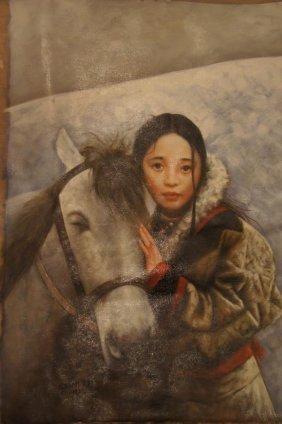 20: Artist: AiXuan (1987); Oil on canvas