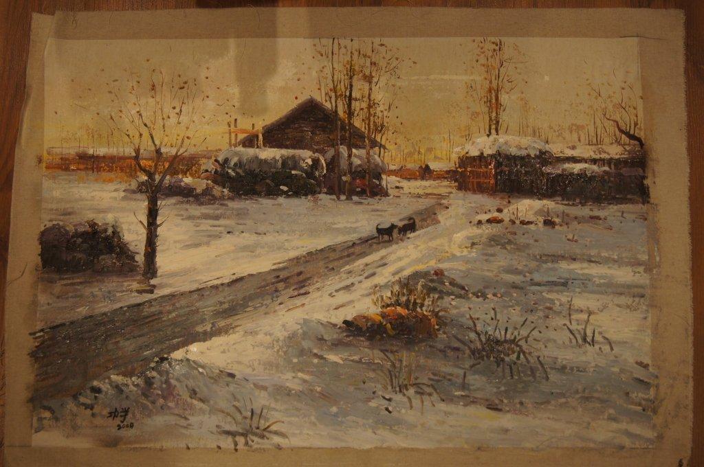 21: Artist: Wang Gong Xue; oil on canvas ; 2004