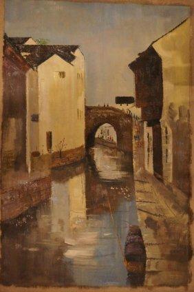 22: Artist : Wu Guan Zhong; 1983 ; Oil on canvas