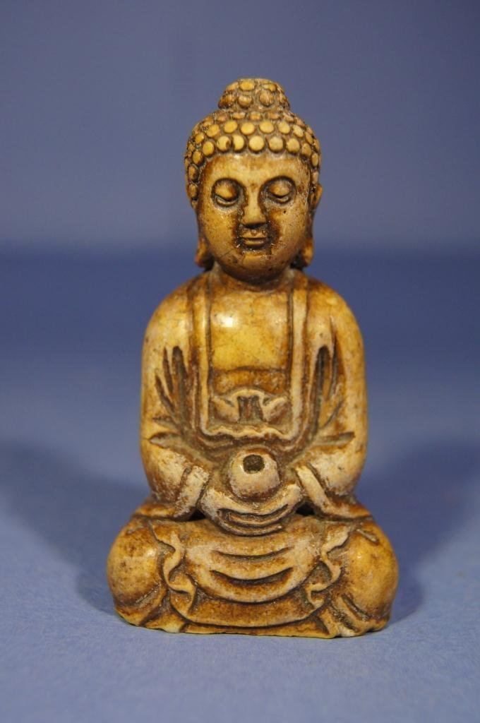 26: Chinese antique Shoushan carved Buddha