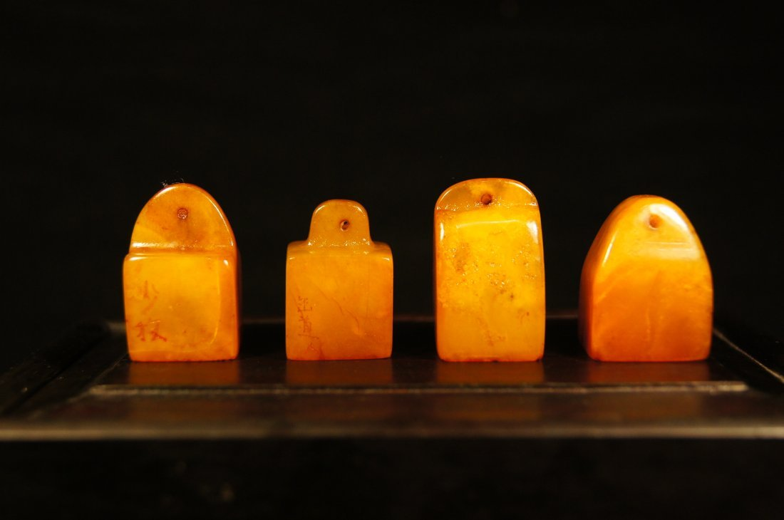 Set of Chinese antique Tianhuang stone seals