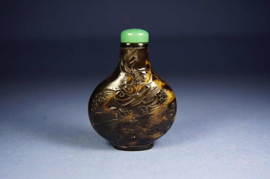 Chinese antique Turtle shell snuff bottle