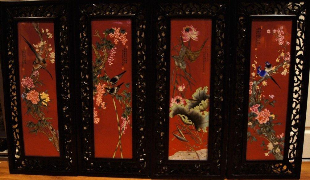 Chinese republic period porcelain plaques