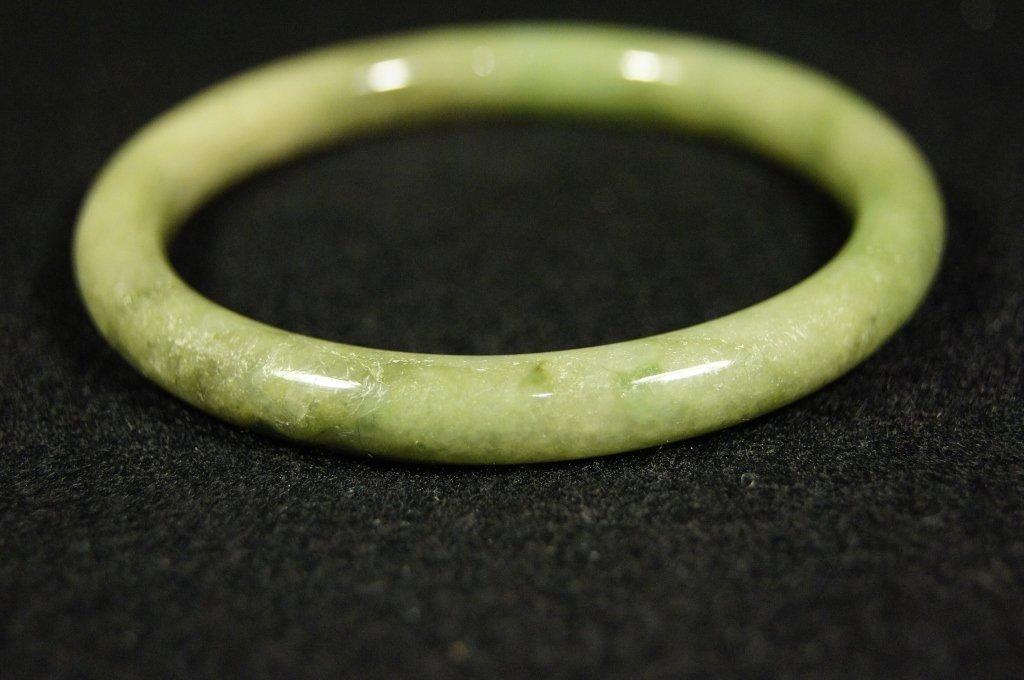 Chinese antique green  jade Bangle
