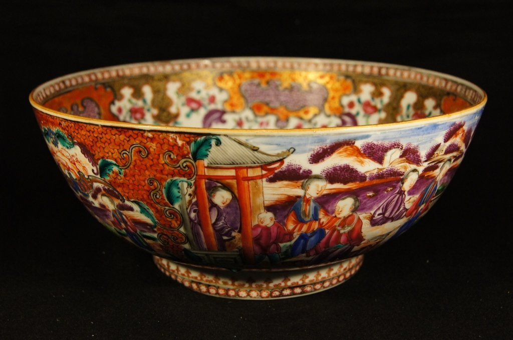 Chinese antique Export porcelain punch bowl
