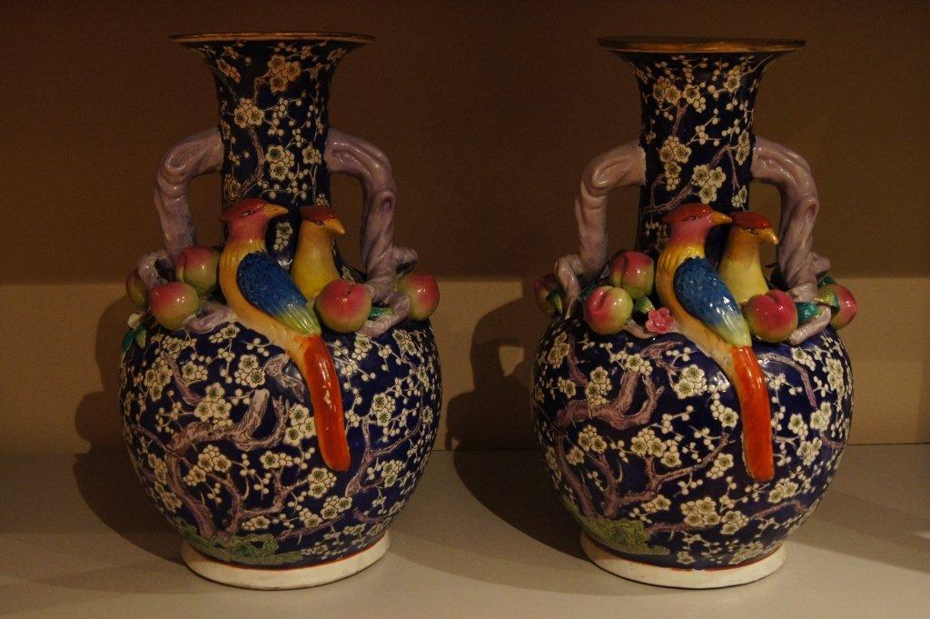 Pair of large Chinese porcelain vase
