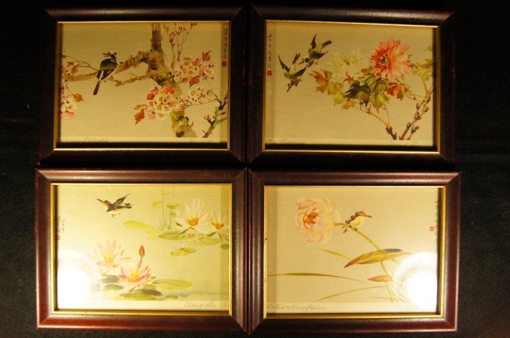 Four Chinese antique watercolor on paper;1945