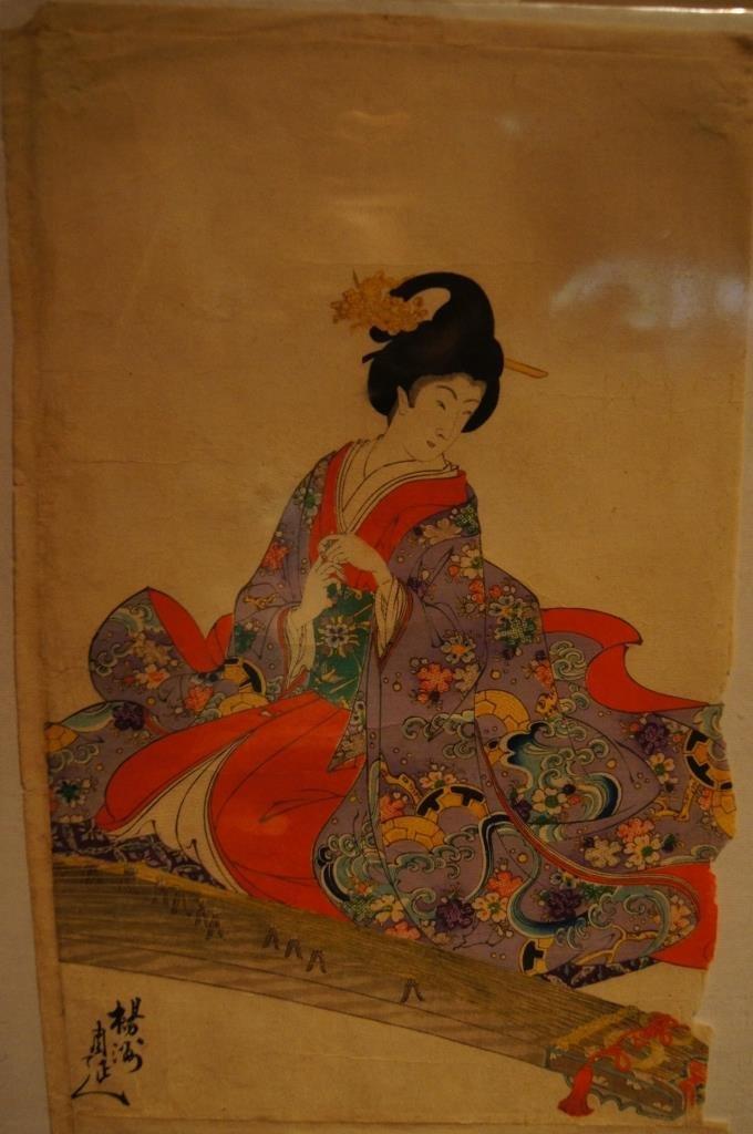 Chikanobu Yoshu; Old Japanese woodcut print