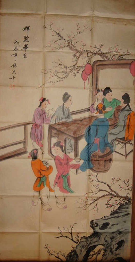 Zhang Daqian ; Chinese antique watercolor on paper
