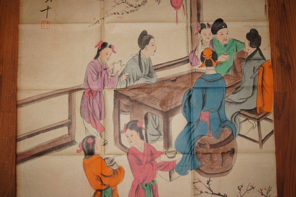 Zhang Daqian ; Chinese antique watercolor on paper - 3