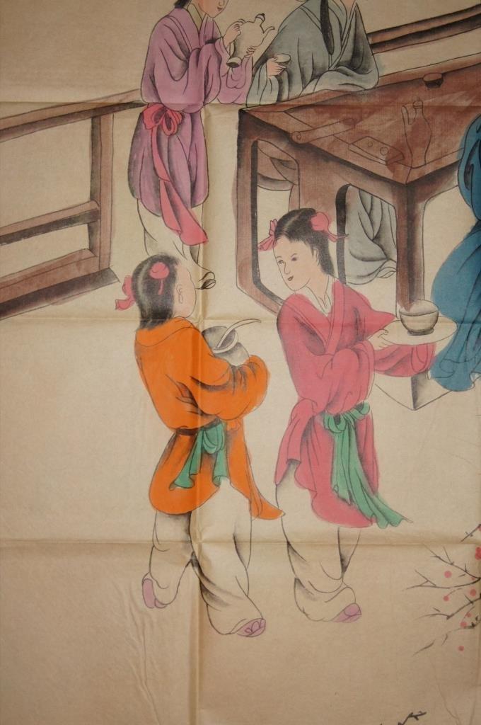 Zhang Daqian ; Chinese antique watercolor on paper - 4
