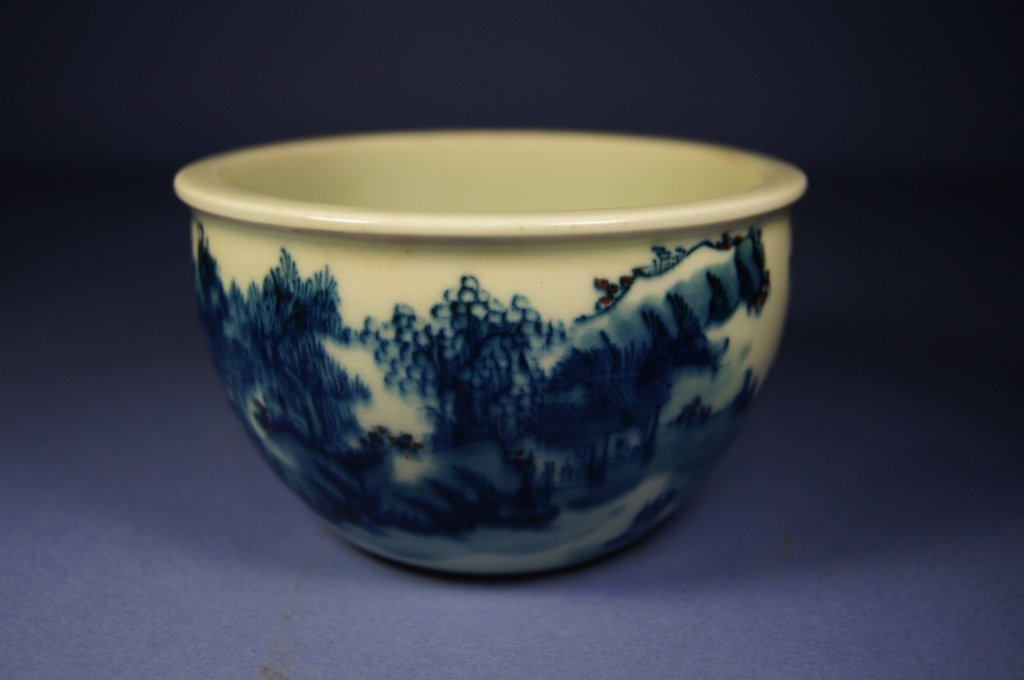 Chinese antique blue and white porcelain bowl