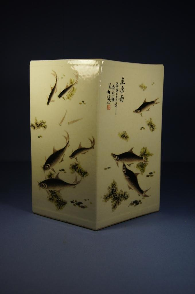 Artist : ???,(1874??1930?) , Chinese brush pot