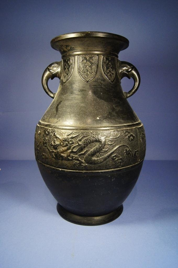 Chinese antique Glazed pottery ; 19th