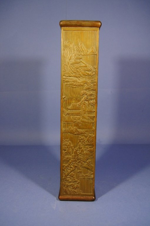 Chinese antique Bamboo carved incense holder