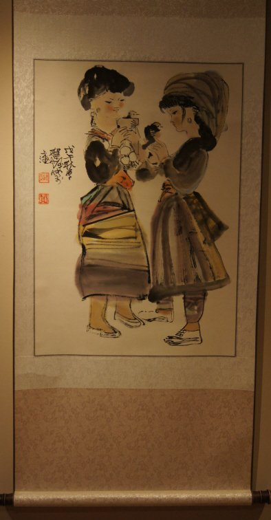 Chen Shi Fa;Chinese antique water color scroll