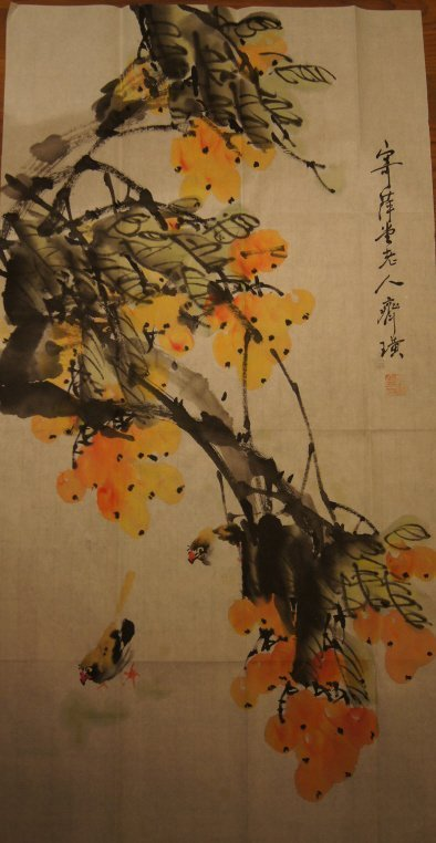 Qi Baishi ; Chinese antique water color on paper