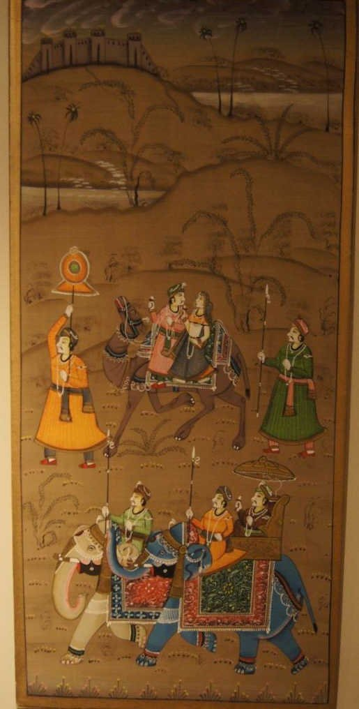 Indian antique painting on Silk