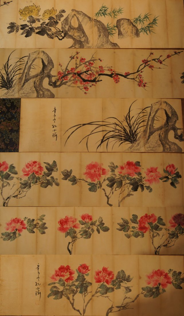 KONG Xiaoyu ; Chinese antique Long water color booklet