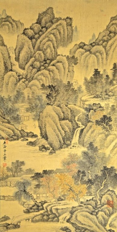 Wang Hui ; Chinese Scroll Painting