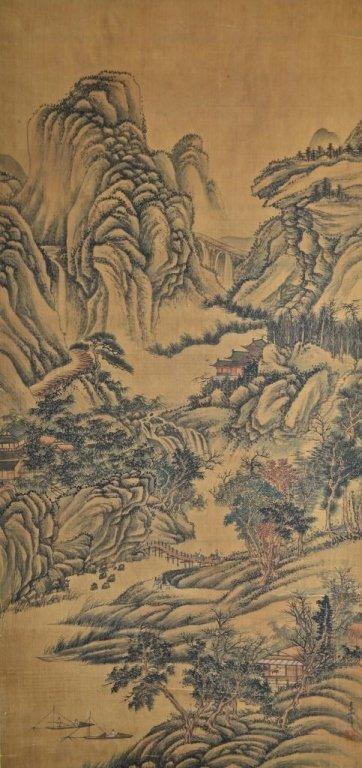 Li Shizhuo ; Chinese Scroll Painting on silk
