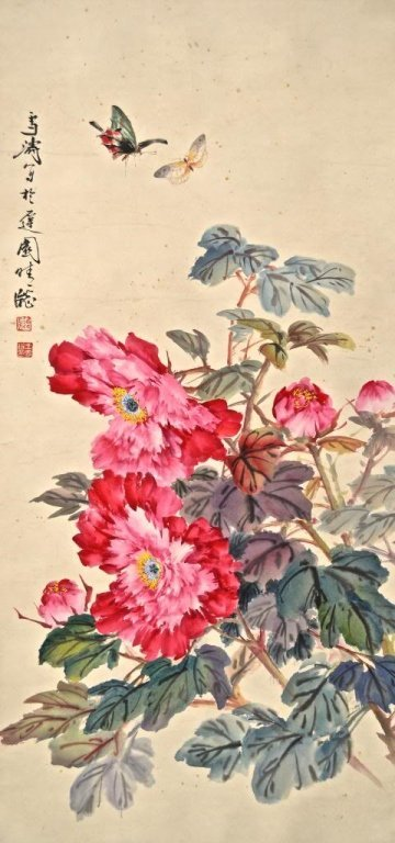 Wang XueTao ; Chinese Scroll Painting