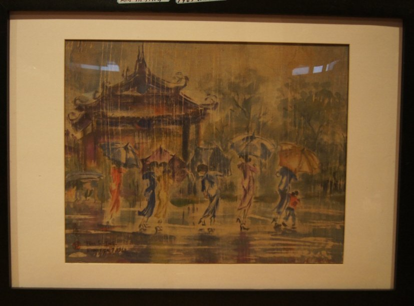 Ran In-Ting ; Watercolor on Silk ; Framed ; 1963``