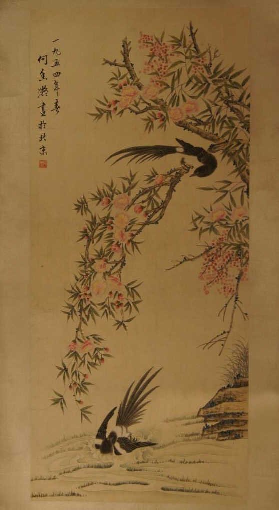 Chinese antique water color on paper