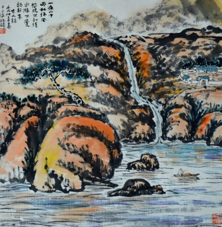Zhu QiZhan ; Chinese Scroll Painting