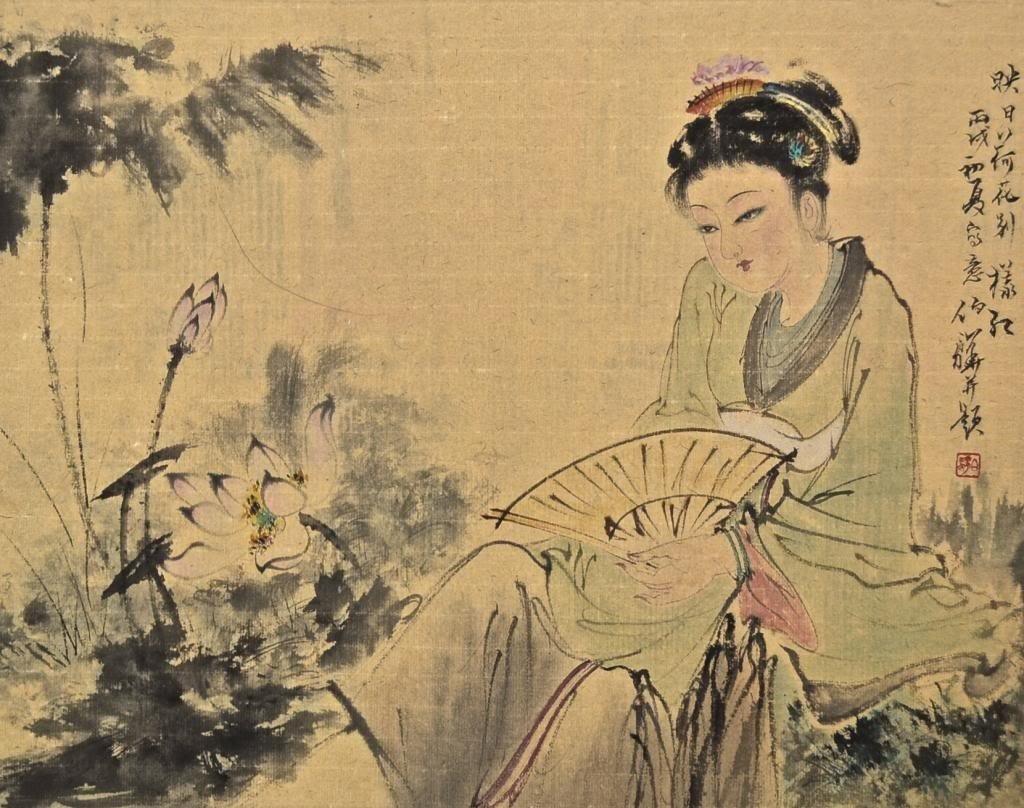 Bai BoHua ; Chinese Scroll Painting