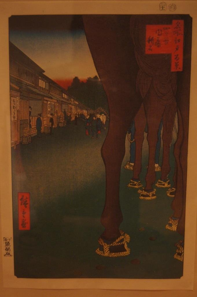 2PCS Japanese antique woodblock print