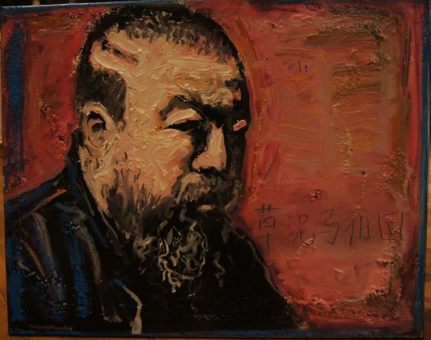 Portrait of Ai WeiWei ; Oil on canvas