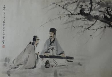 Fu Baoshi ; Chinese Scroll Painting